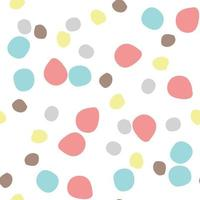 Vector seamless texture background pattern. Hand drawn, colorful on white.