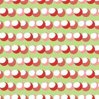Vector seamless texture background pattern. Hand drawn, green, red, pink, white colors.