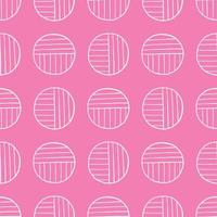 Vector seamless texture background pattern. Hand drawn, pink, white colors.