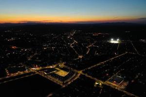 Night city panorama