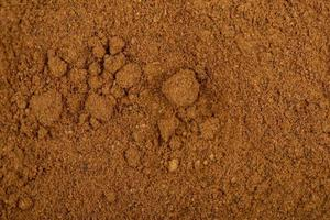 Top view of cinnamon powder