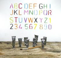 Alphabet and paint