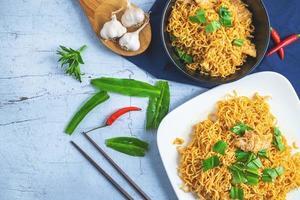 Stir fried noodles on a plate