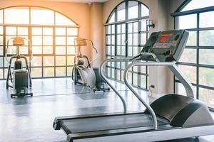 Fitness machines inside