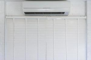 acondicionador de aire blanco