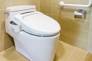 Modern white toilet photo