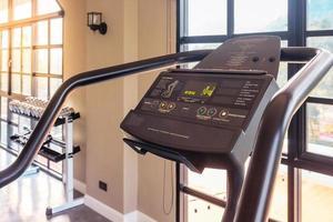 Treadmill in gym photo