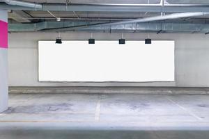 Billboard mock-up in garage photo