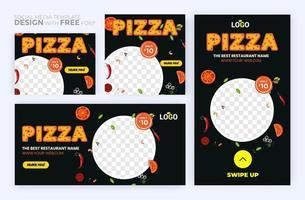 Set of social media story and post frames. Layout design for marketing on social media. vector