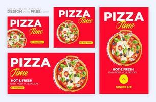 Food menu banner social media post. Editable social media templates for promotions on the Food menu vector