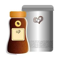 maqueta de marca cafetería, botellas de café vector