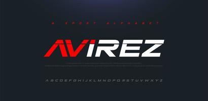 Sport Modern Future Italic Alphabet Font vector