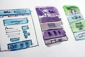 diseños de sitios web de acuarela