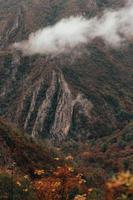 Misty mountain view photo