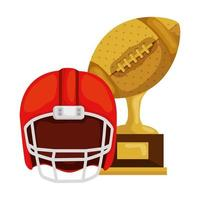 trophy and american football helmet isolated icon