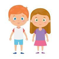 cute little children avatar character