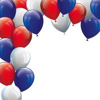 globos helio blanco con rojo y azul
