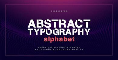 Abstract modern alphabet fonts and numbers vector