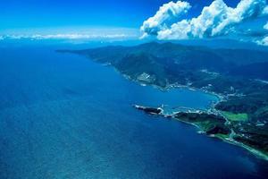 Aerial view of a blue ocean