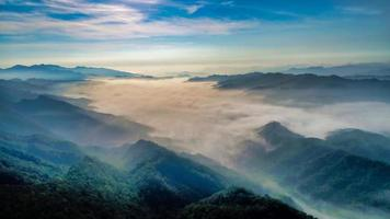 Aerial view of Wufenshan sunrise
