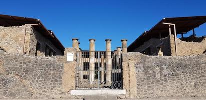 Ruins of Pompeii in Italy photo