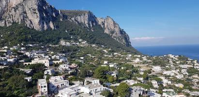 paisaje urbano en la isla de capri foto