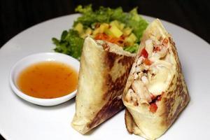 Stuffed crepe burritos photo