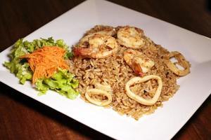 Seafood with rice photo