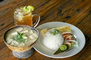 Colombian soup and drink photo