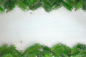 Pine needles on wood