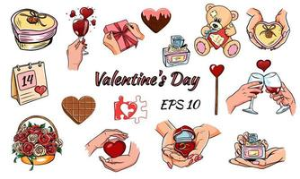 Valentine Day Icons. vector