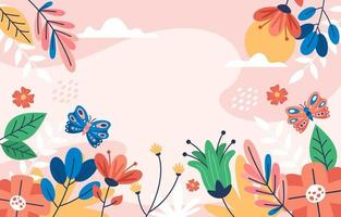 Spring Background with Beautiful Floral View vector