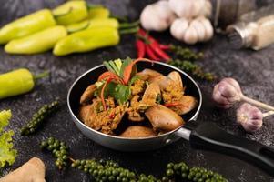 Curry powder stir-fried clams photo