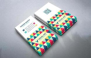 colorida tarjeta de visita vertical