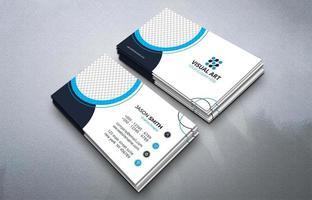 plantilla de tarjeta de visita azul vector