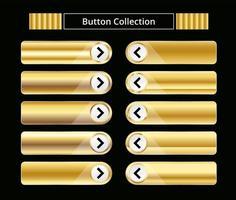 Gold button collection. vector