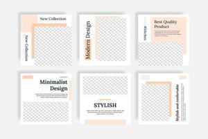 Minimal furniture social media templates post banner