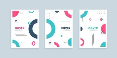 Memphis cover collection with colorful circles