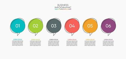 Infographic Thin Line Design Template With 6 Options vector