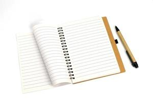 Spiral notebook with and pen