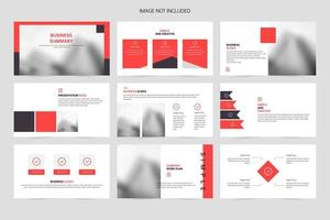 plantilla de diapositiva de presentación de presentación de promoción de empresa roja vector