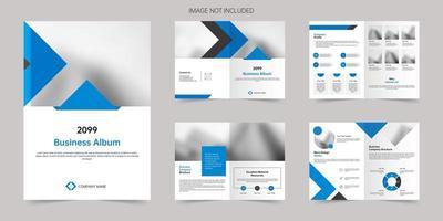 plantilla de folleto comercial de empresa comercial vector
