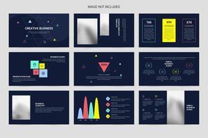 Minimal presentation creative design template
