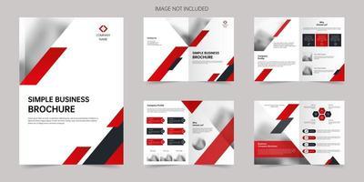 Business company annual brochure vector