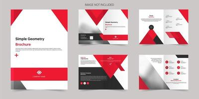 Geometric business A4 brochure template