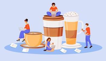 Coffee culture flat concept vector illustration
