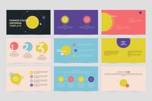 Colorful creative presentation design template