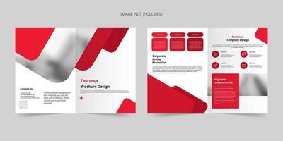 Company creative brochure vector template
