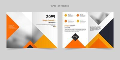 Simple style geometric bi-folding brochure