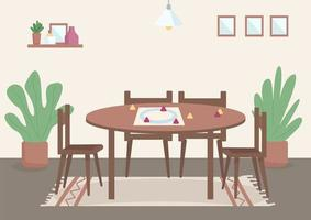 Place for family leisure flat color vector illustration